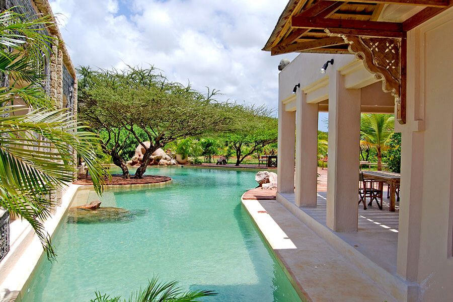 Pool im The Majlis Resort auf Lamu Island