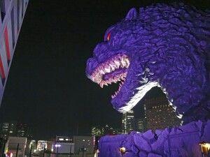 Godzilla auf dem Toho-Gebäude in Tokio – Shinjuku
