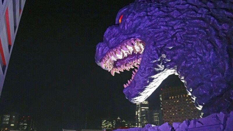 Godzilla auf dem Toho-Gebäude in Tokio – Shinjuku © Diamir