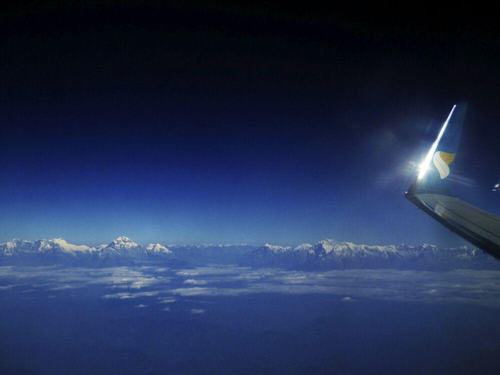 Flug nach Kathmandu