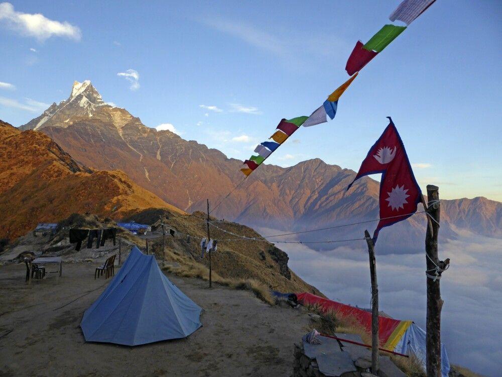 High Camp mit Machhapuchare