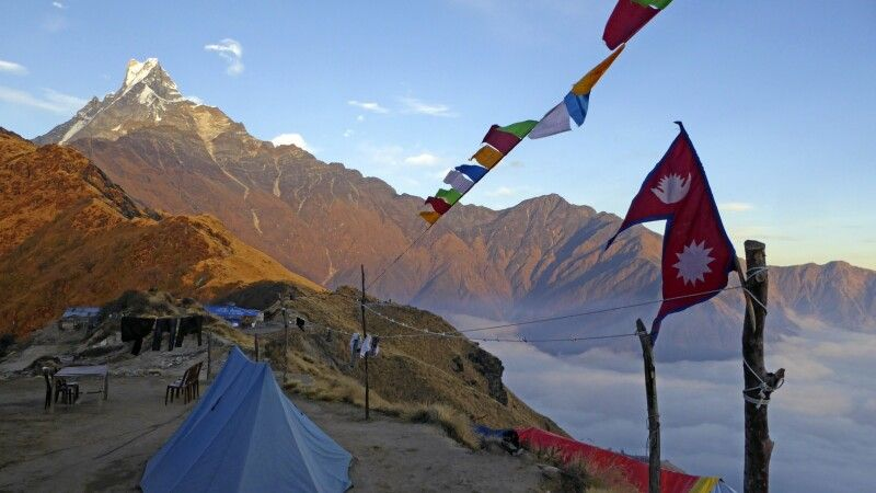 High Camp mit Machhapuchare © Diamir