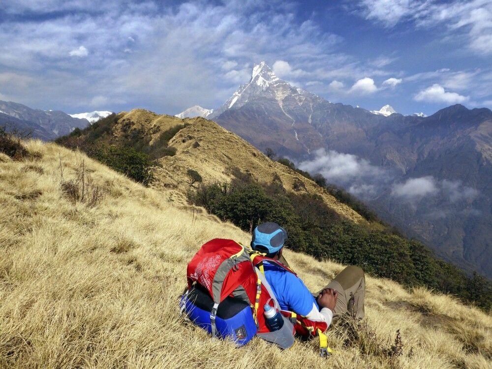 Rast auf dem Mardi Himal Trek