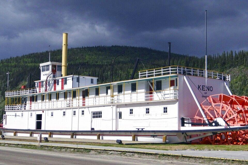 Das historische Schiff Keno in Dawson City
