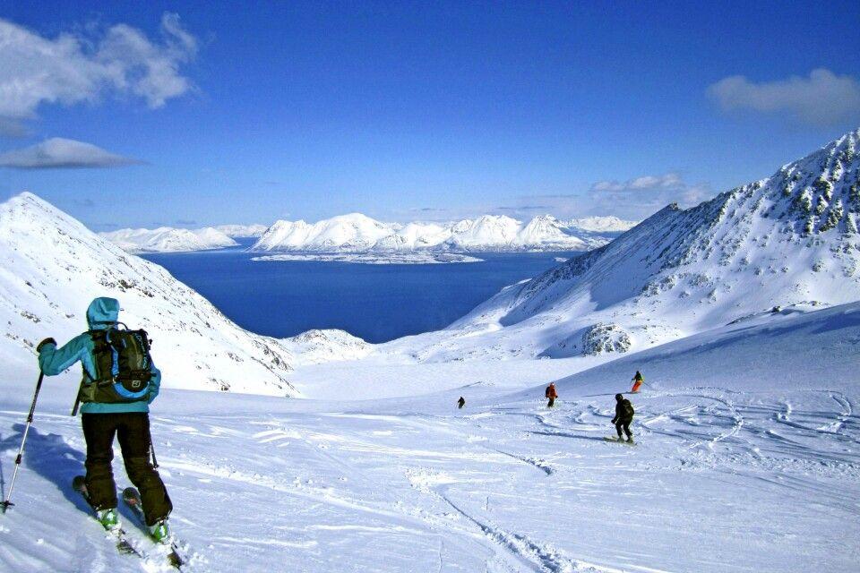 Abfahrt über den Gletscher