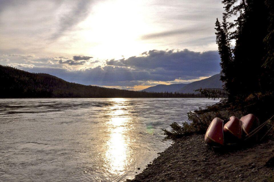 Entspannung bei Sonnenuntergang