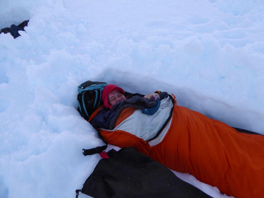 Schlafen auf der Antarktischen Halbinsel