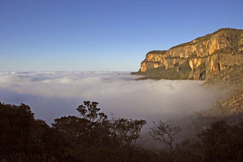 Über dem Wolkenmeer vor Ceerigaado