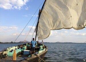 Dhow auf dem Malawi-See