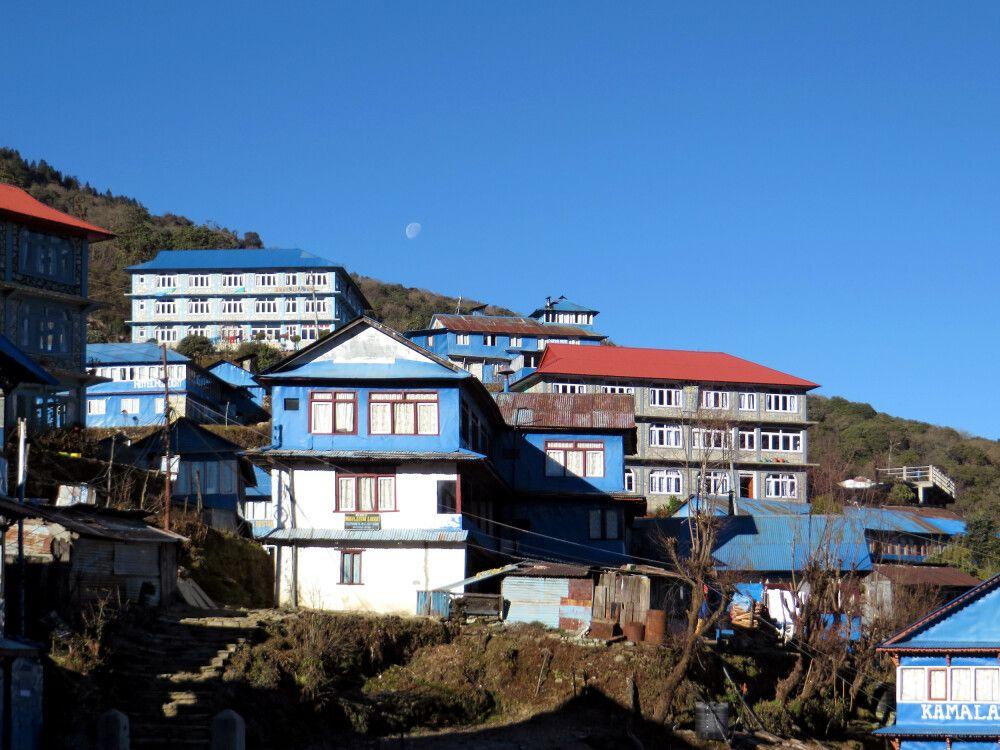 Kleines Dorf im Annapurna-Gebiet