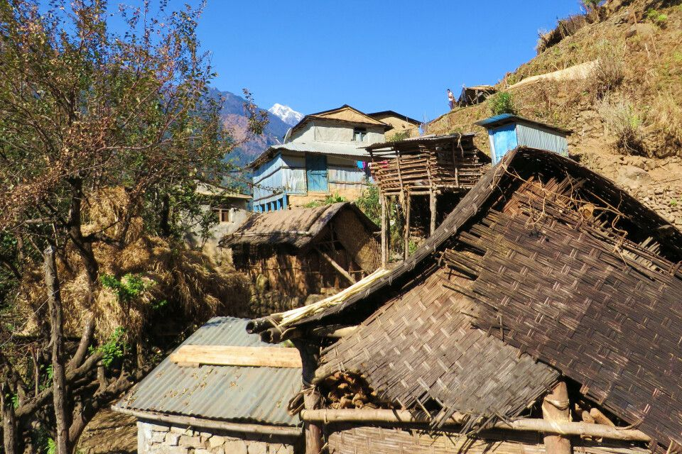Dorf im Annapurna-Gebiet