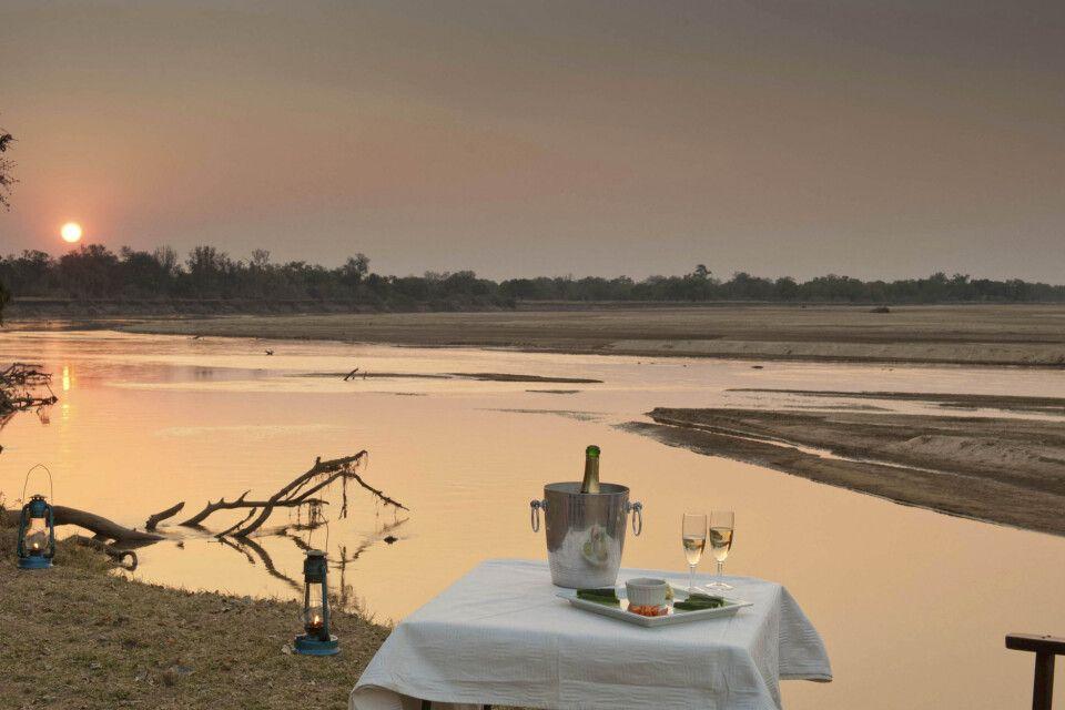 Ein Sundowner am Sambesi