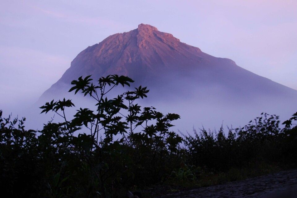 Vulkaninsel Fogo mit Blick auf den Pico de Fogo