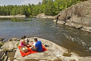 Picknick am French River, Ontario