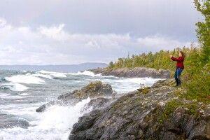 An der Küste des Lake Superior, Ontario
