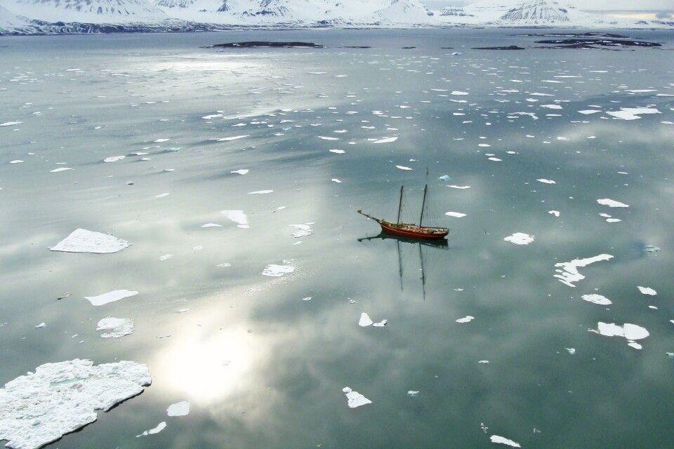 Noorderlicht in Spitzbergen