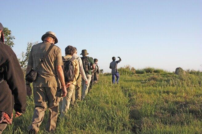Auf Prischwanderung im Okavango Delta