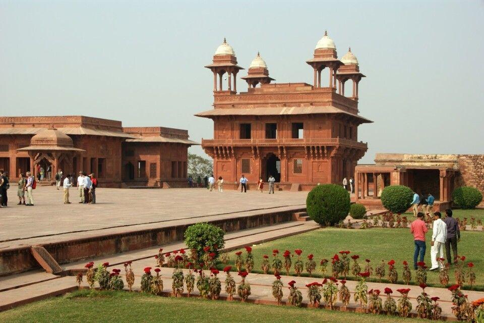 Innenhof Fatehpur Sikri mit Diwan i Khas