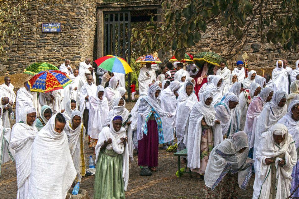 Prozessionszug in Lalibela
