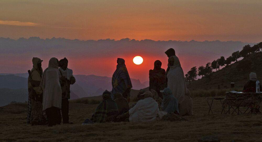 Sonnenuntergang in den Semien-Bergen