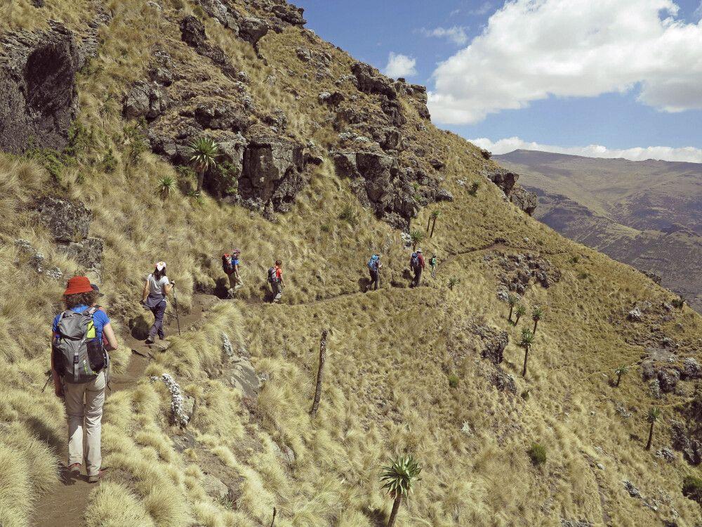 Trekking in den Semien-Bergen
