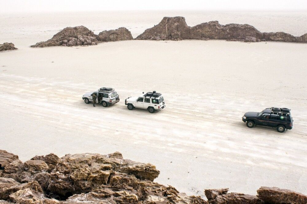 Unterwegs in der Salzwüste Danakil