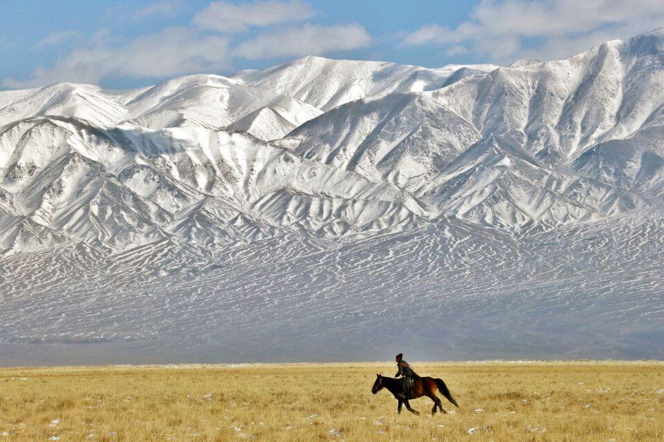Reiter in der Jargalant-Ebene