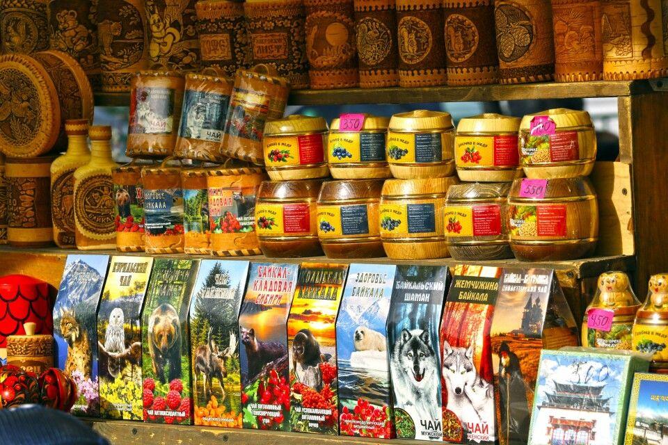 Marktstand am Baikal