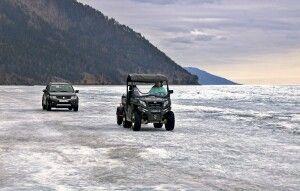 Fahrzeuge auf dem Eis