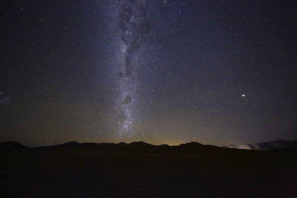 Nachtaufnahme des Sternenhimmels im Altiplano