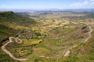 Blick ins Tal von Lalibela