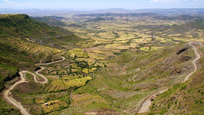 Blick ins Tal von Lalibela © Diamir