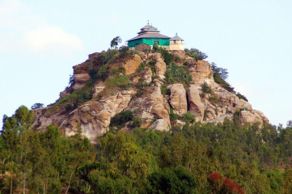 versteckte Kirche in Nordäthiopien