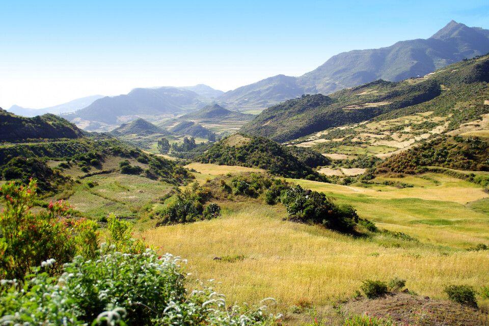 Landschafts- und Bergszenerie in Nordäthiopien