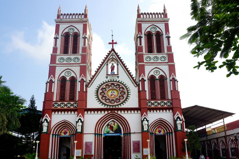 Pondicherry, Basilica of the sacred heart of Jesus