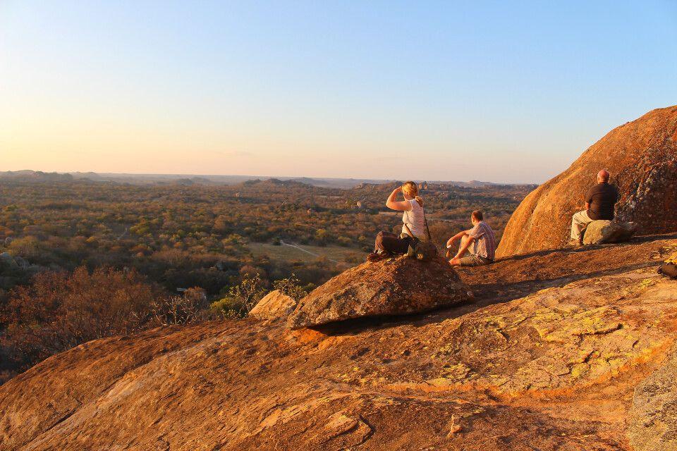 Aussicht von imposanten Felsformationen im Matobo-Nationalpark