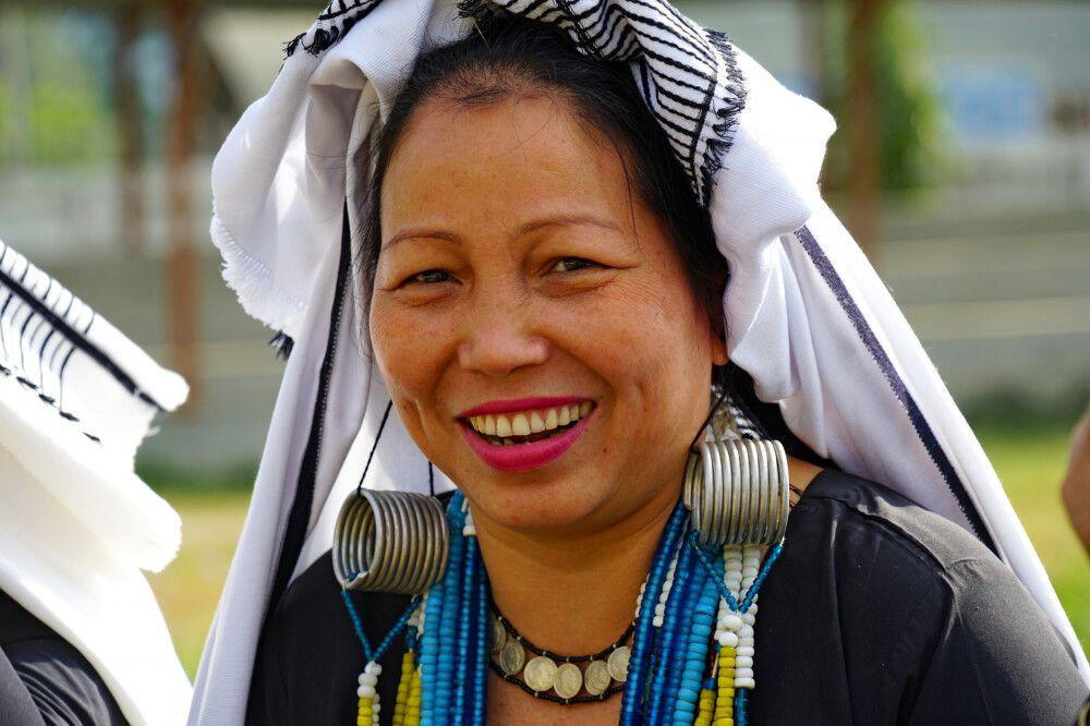 Stammesfrau in Arunachal Pradesh