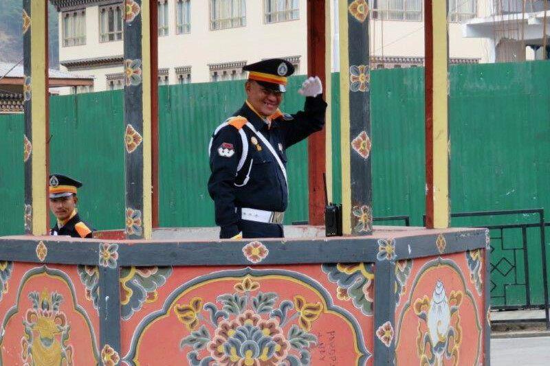 Verkehrspolizist Thimphu