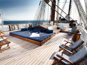 Deck auf der Sea Cloud II