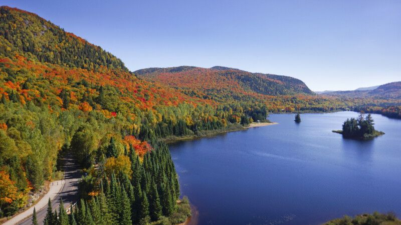 Herbstlandschaft in den Laurentides © Diamir