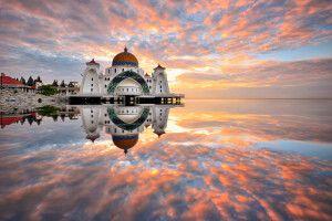 Malaysia - Borneo - Meer - Moschee