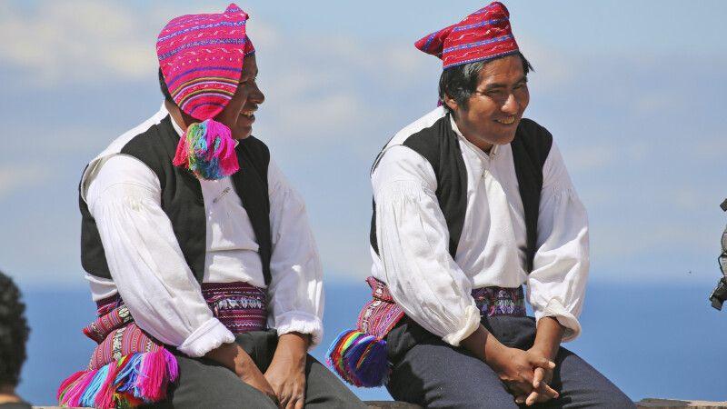 Isla Taquile, Insel der Strickenden Männer © Diamir