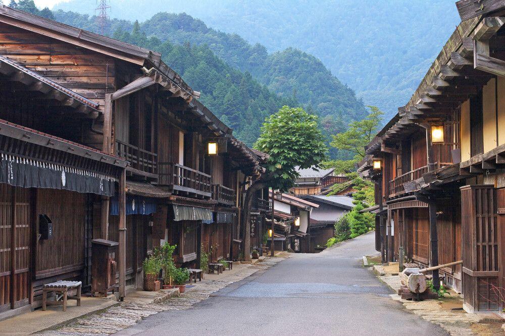 Tsumago – Häuser aus der Edo-Zeit auf der alten Route zwischen Kyoto und Tokio
