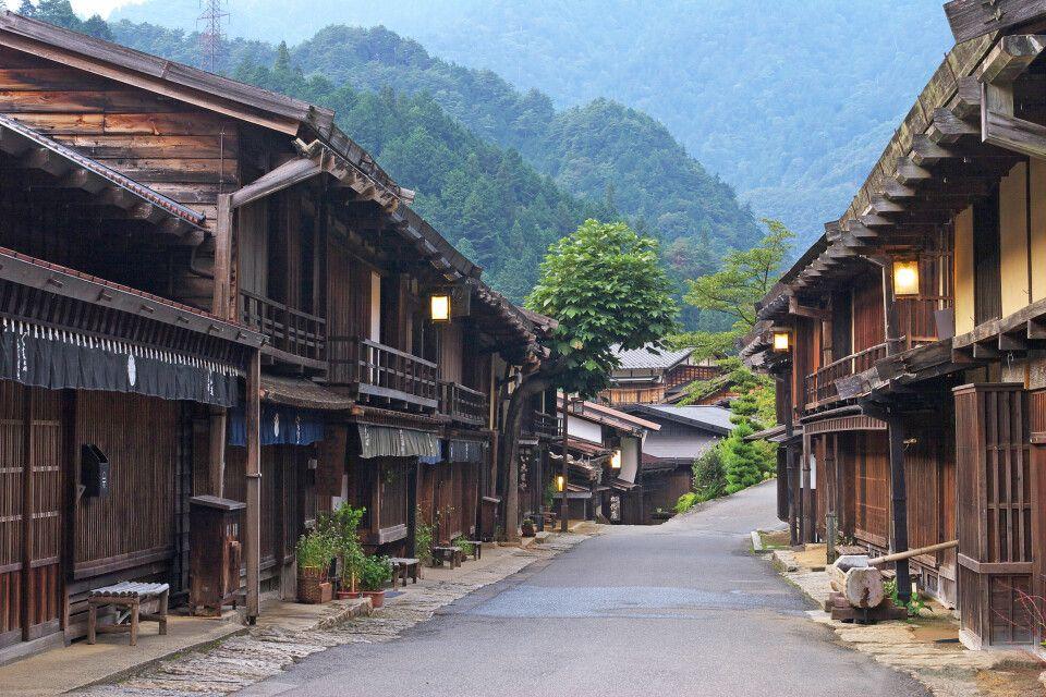 Tsumago - Häuser aus der Edo-Zeit auf der alten Route zwischen Kyoto und Tokio