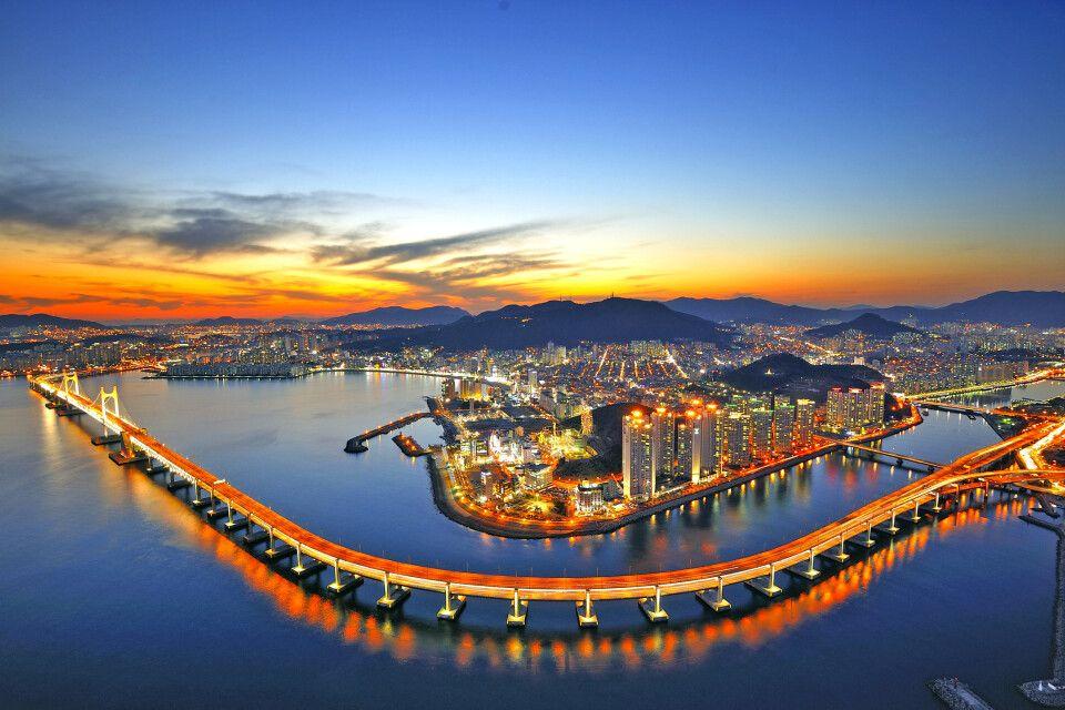 Gwangandaegyo Brücke in Busan