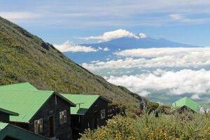 Saddle-Hütten am Mount Meru