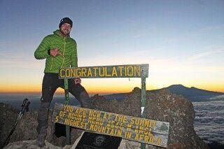 Unser Kollege Uwe am Socialist Peak, Mount Meru