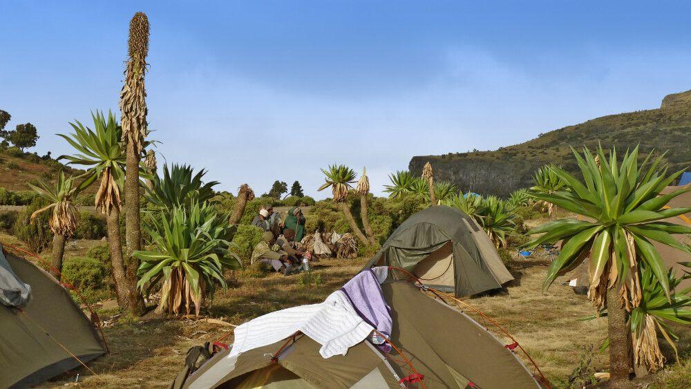 Chennek Camp in den Semien-Bergen