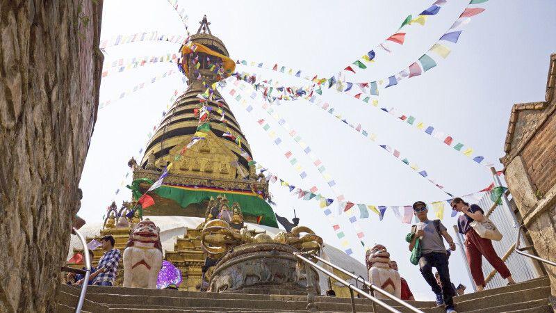 Tempelanlage Swayambhunath © Diamir