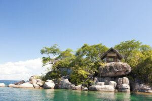 Idyllischer Platz am Malawi-See, Mumbo-Island